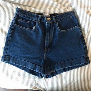 American Apparel denim shorts sz30